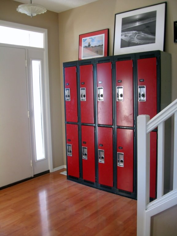 The five kids guide to home organization beth woolsey Hallway lockers for home